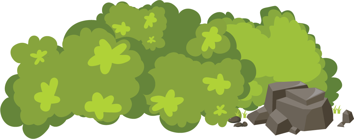 Cartoon bush png. Transparent free images only