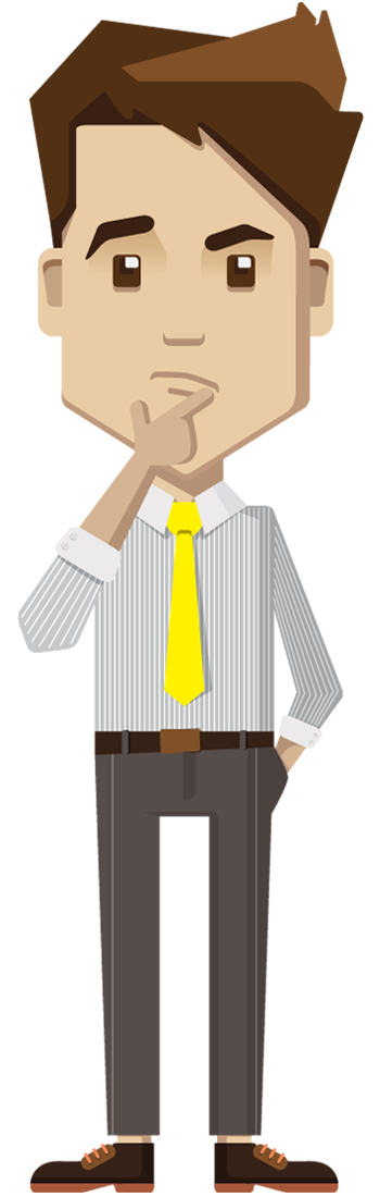 Cartoon businessman png. Thinking designshop