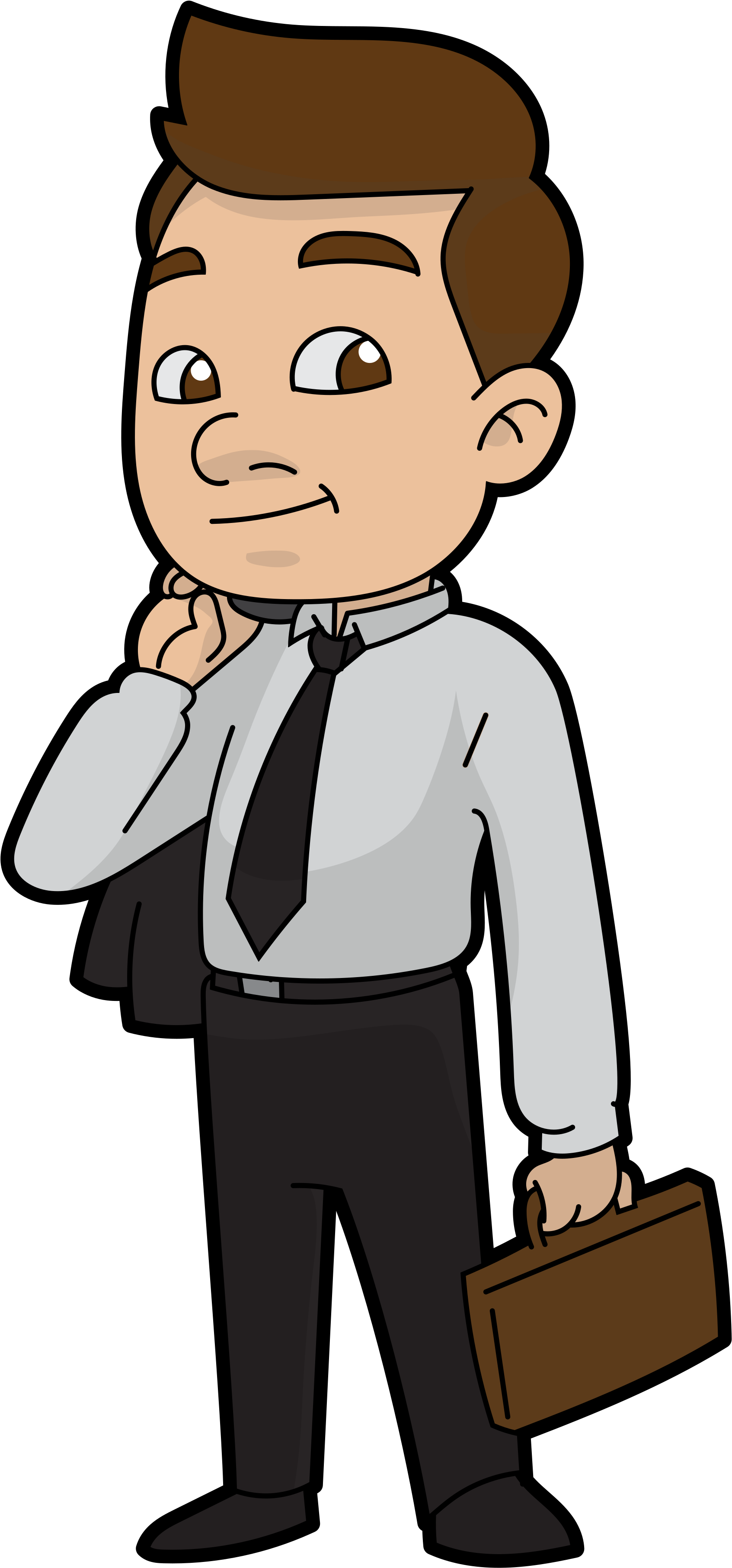 Ready for work x. Cartoon businessman png svg library stock