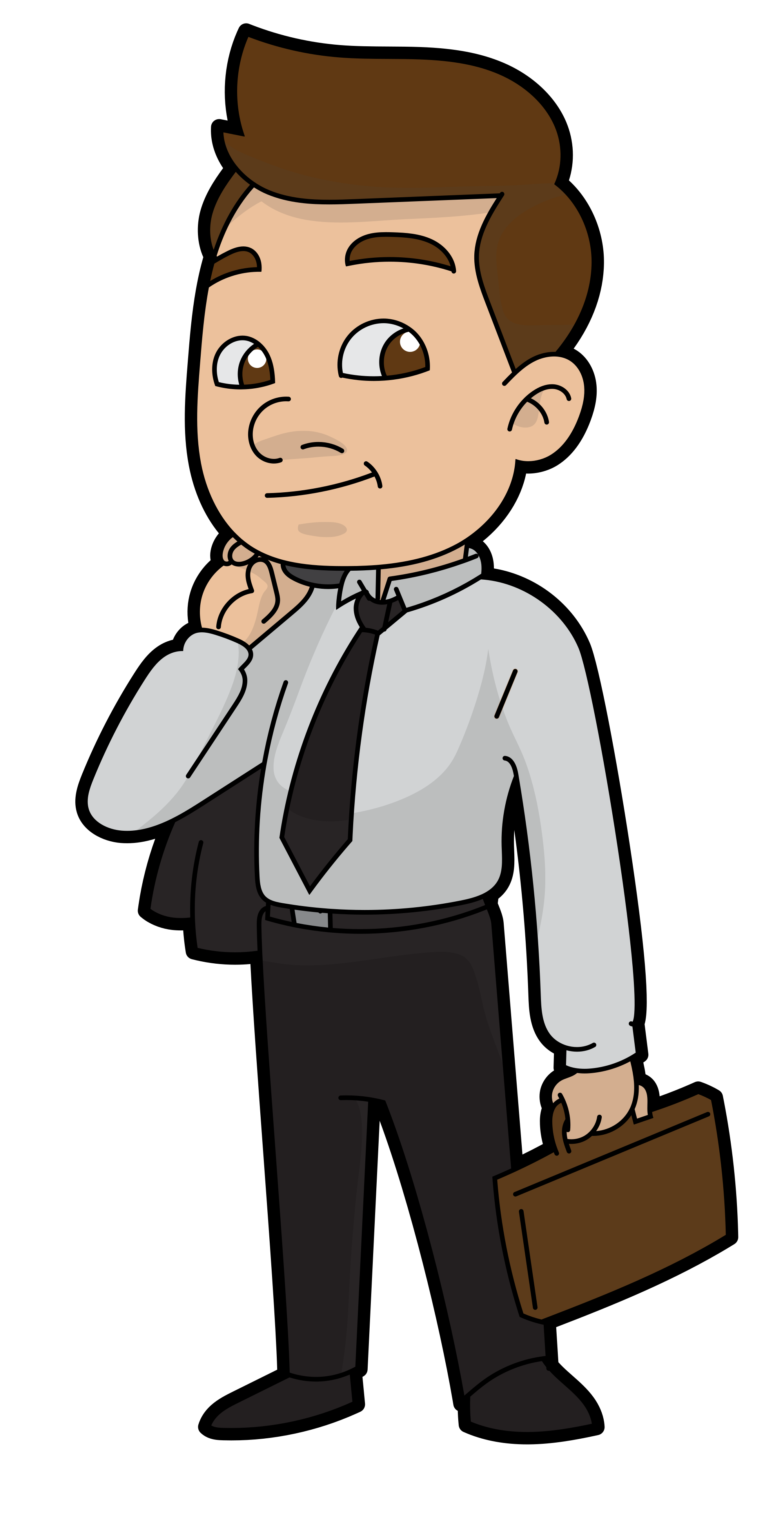 Cartoon businessman png. File ready for work