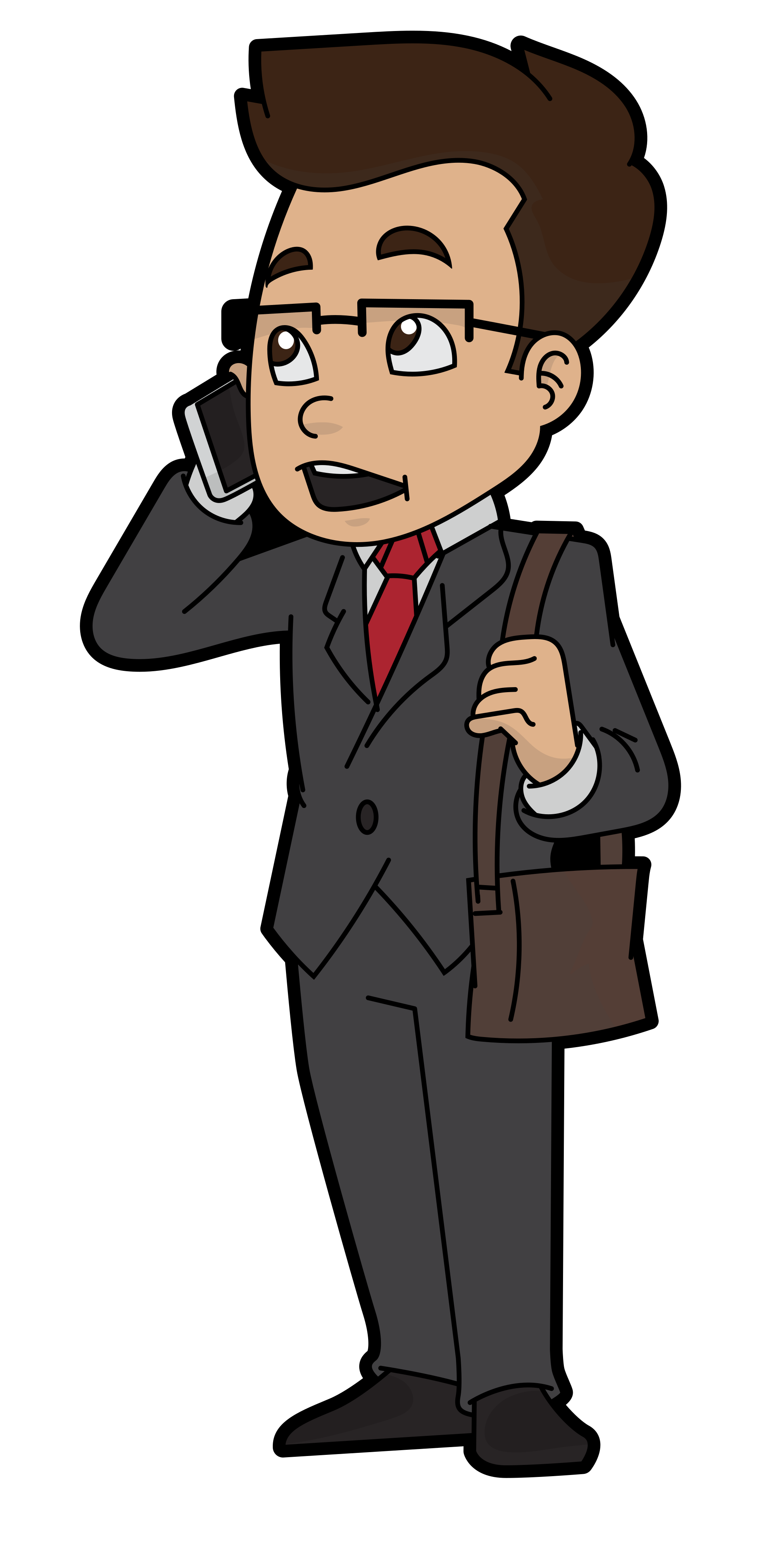 Cartoon businessman speaking png. File to a client