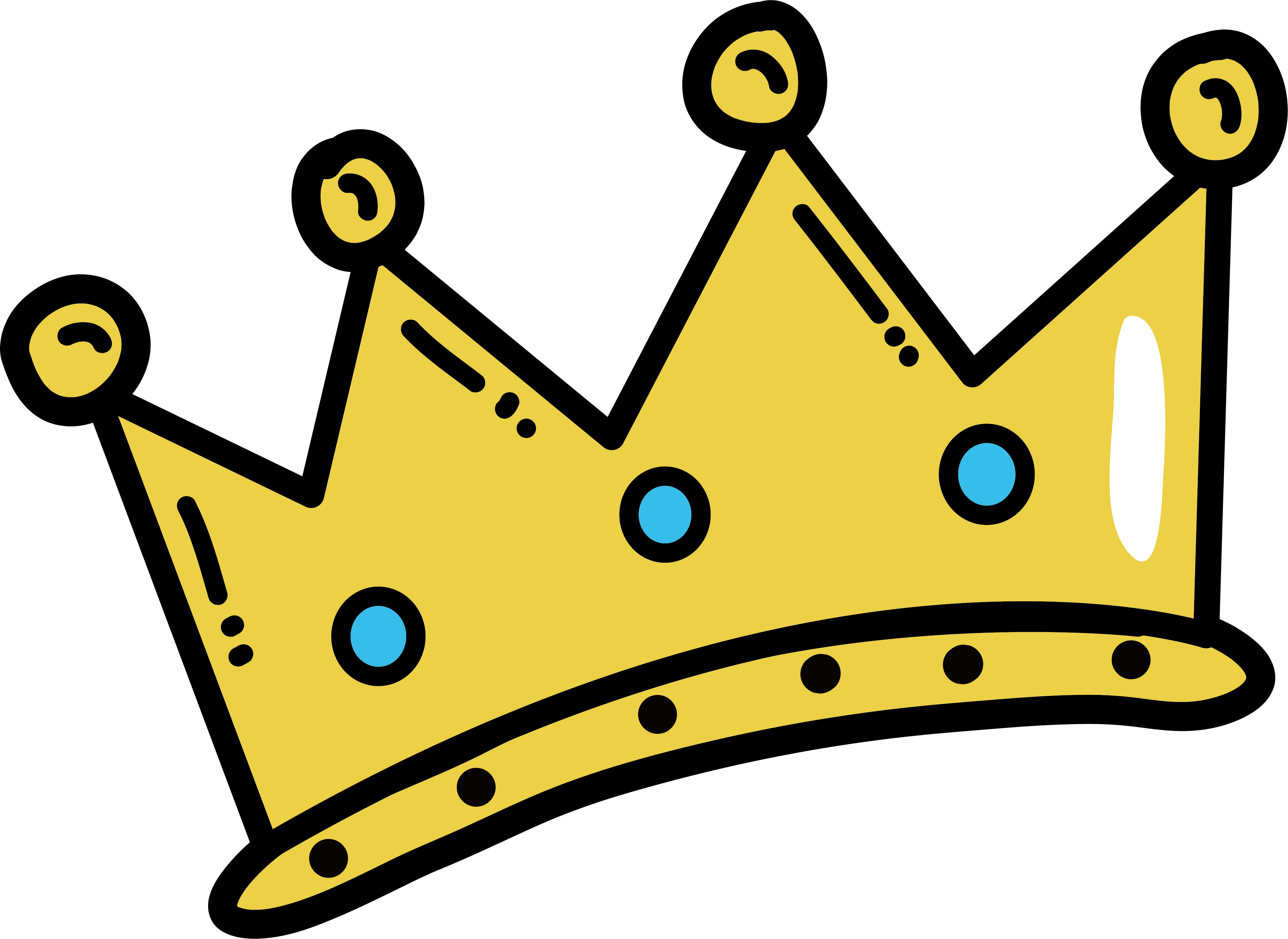 Cartoon crown png. Hand painted transprent free