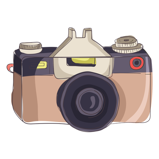 Camara vector digital camera. Cartoon transparent png svg