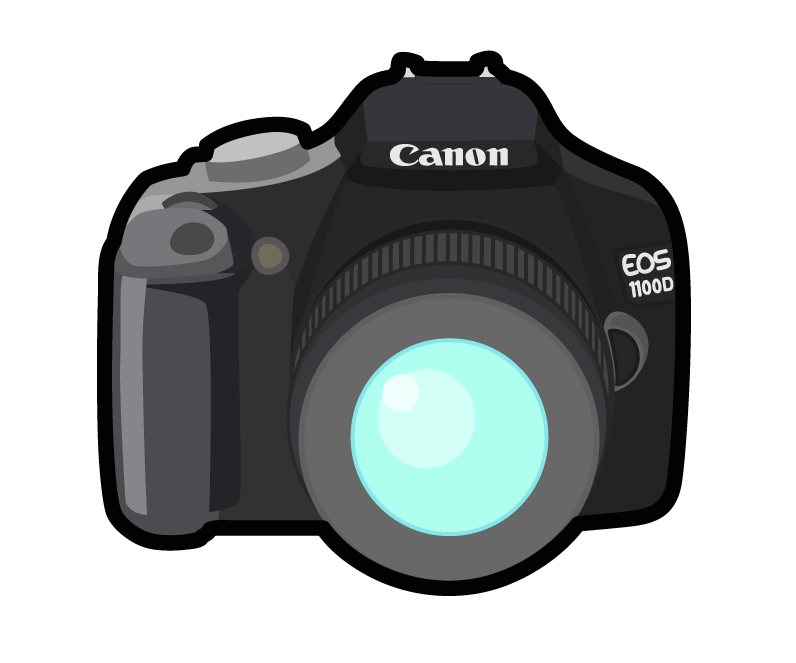 Cartoon png mart. Yearbook clipart canon camera clip black and white stock