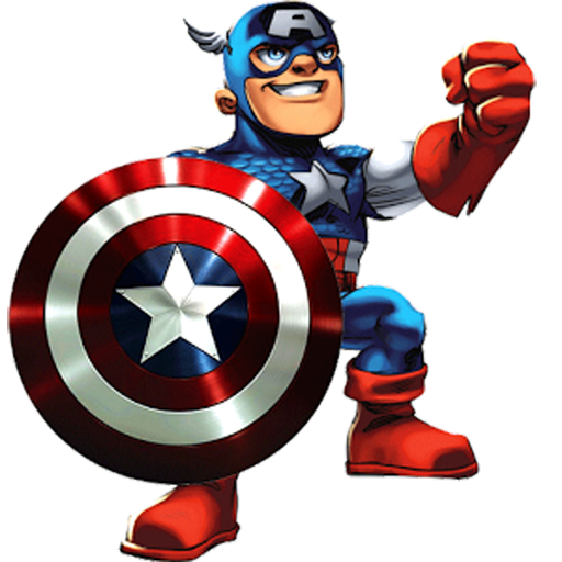 Cartoon captain america png. Slide puzzle games