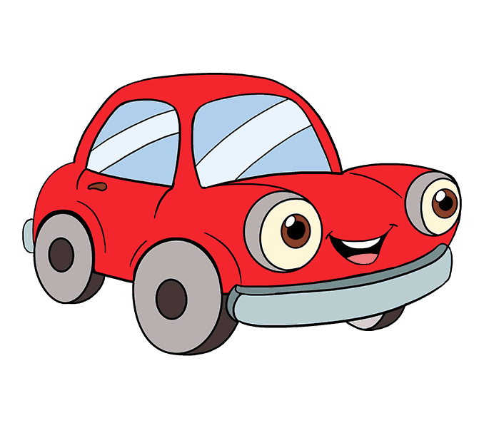 Cartoon car png. Drawing clip art transprent