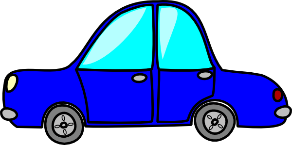 Cartoon car png. Blue clip art at