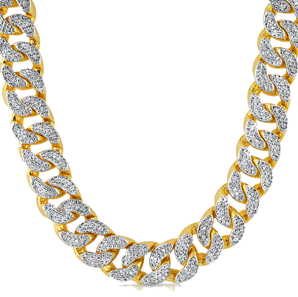 cartoon gold chain png