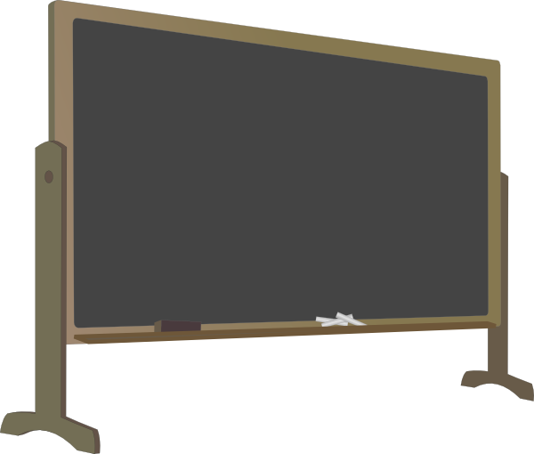 Chalkboard clipart png. Blackboard with stand clip