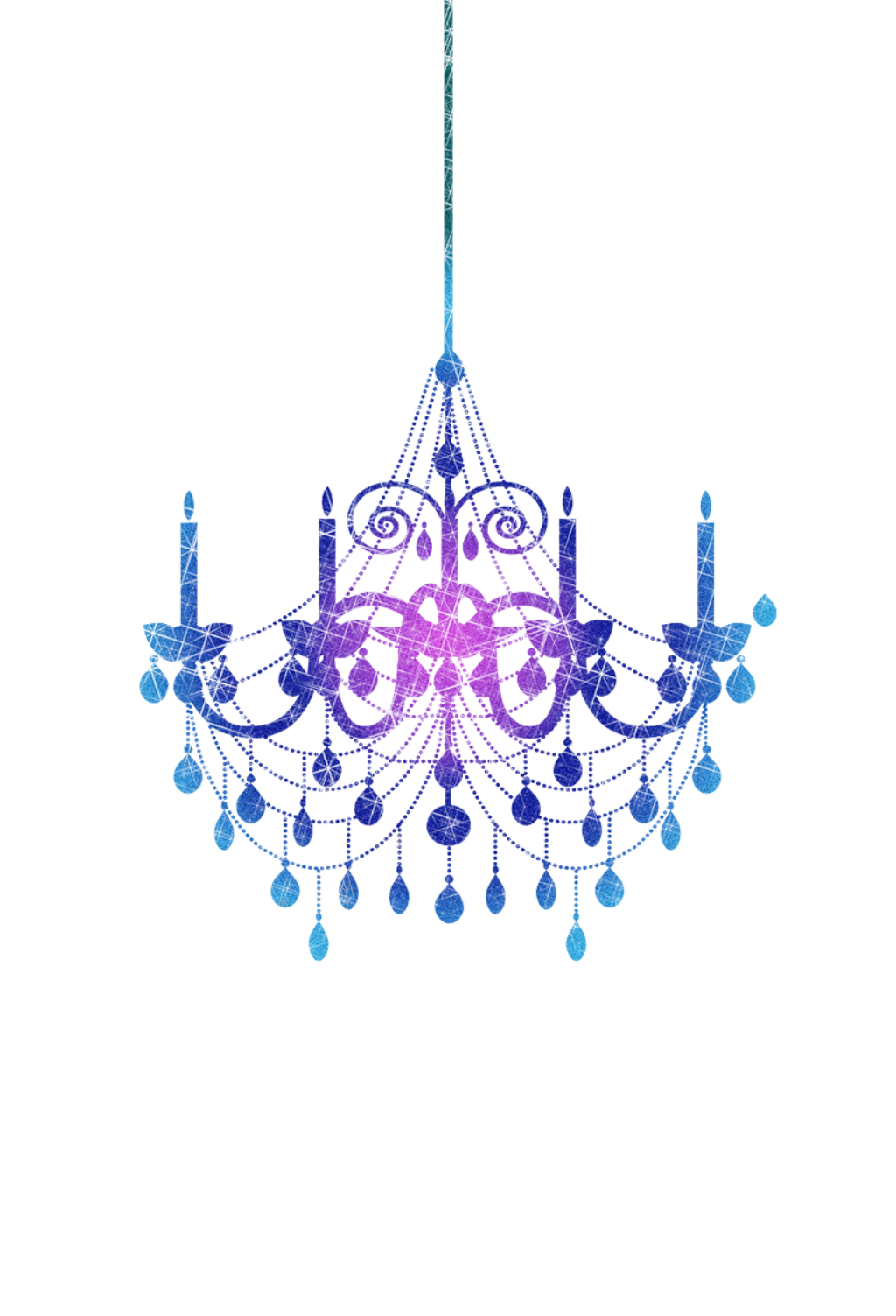 Chandelier vector png free. Hand painted purple transparent