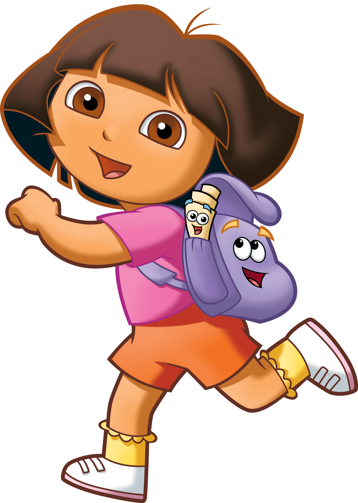 Cartoon characters png. Dora the explorer pack