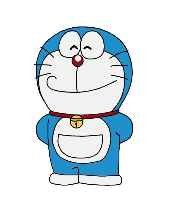 doraemon transparent smile