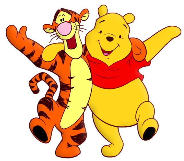 Cartoon characters png. Winnie the pooh and