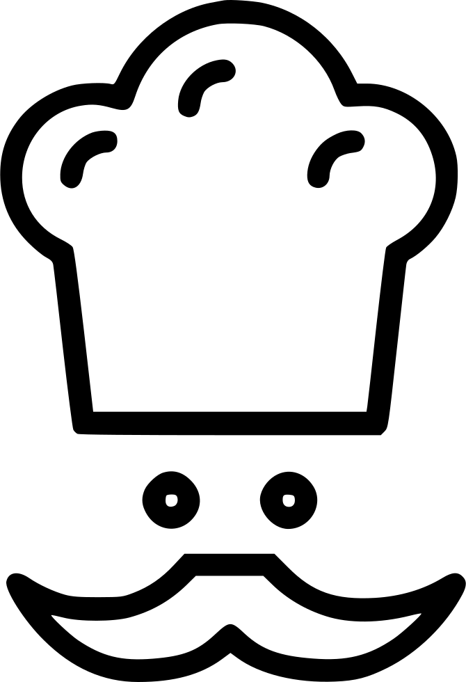 Cartoon chef hat png. Moustache avatar svg icon