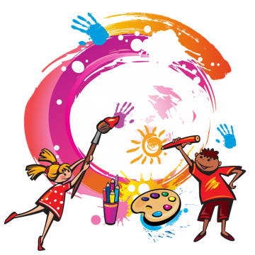 Paint splatters png. Kids toys vectors psd