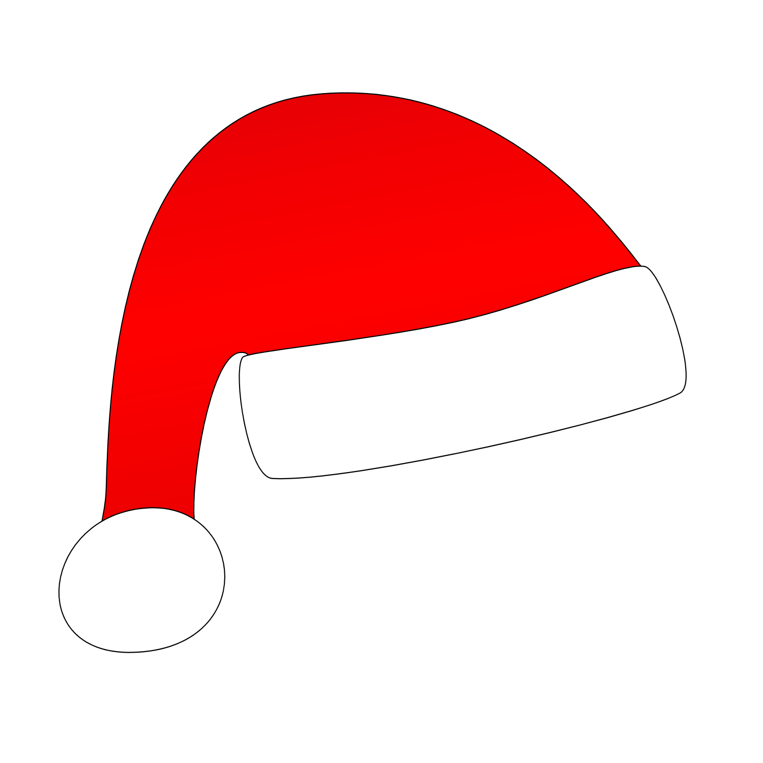 Vector santa minimal. Collection of hat