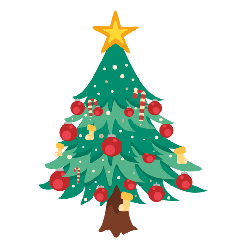 Cartoon christmas tree png. Decoration transparent svg vector
