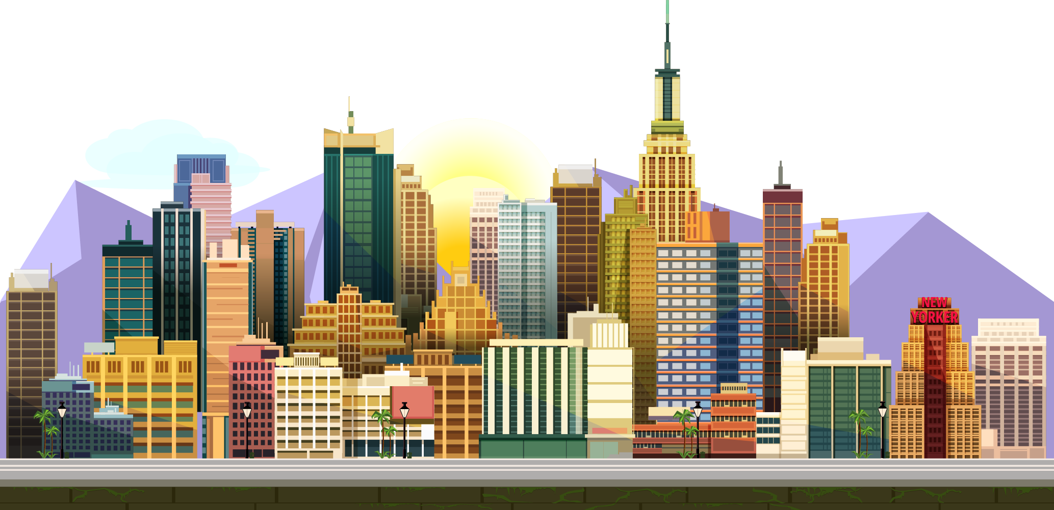 City clipart city landscape. Video game royalty free