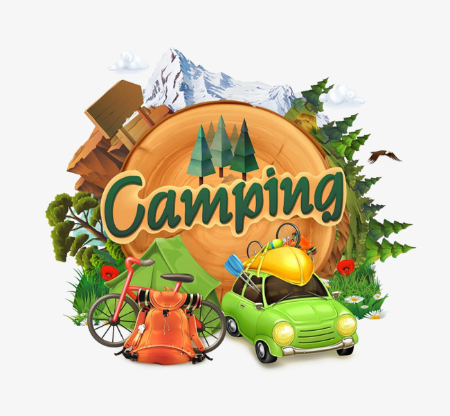 Cartoon clipart camping. Outdoor png image and
