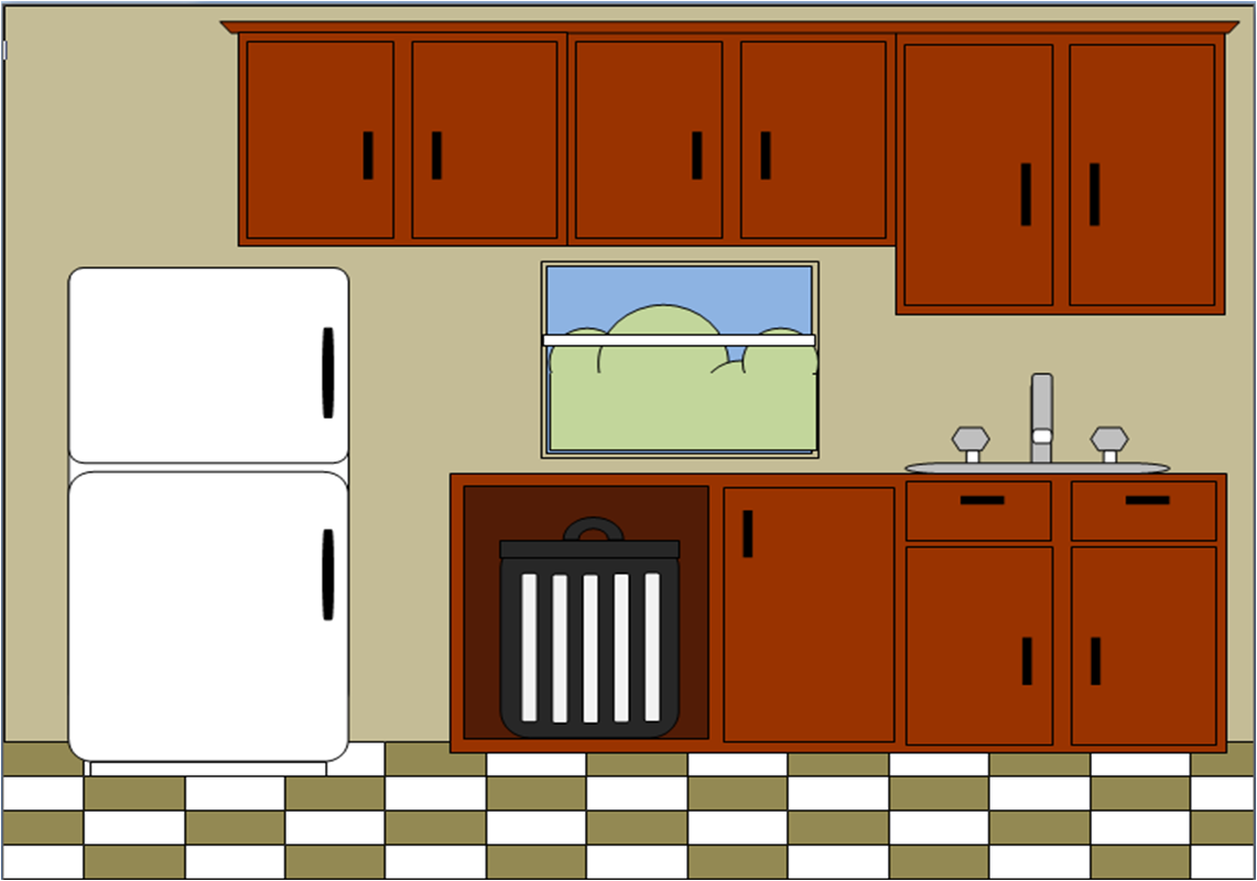 Cartoon clipart kitchen.