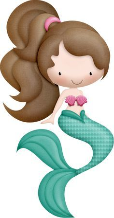 Cartoon clipart mermaid. Free clip art party