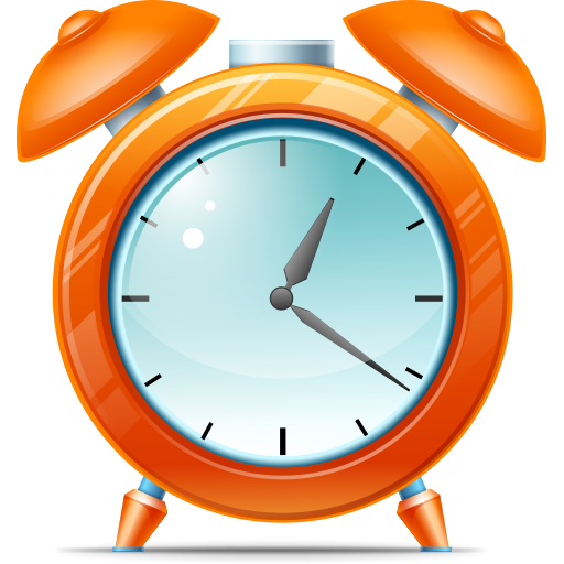 Cartoon clock png. Kid alarm icon