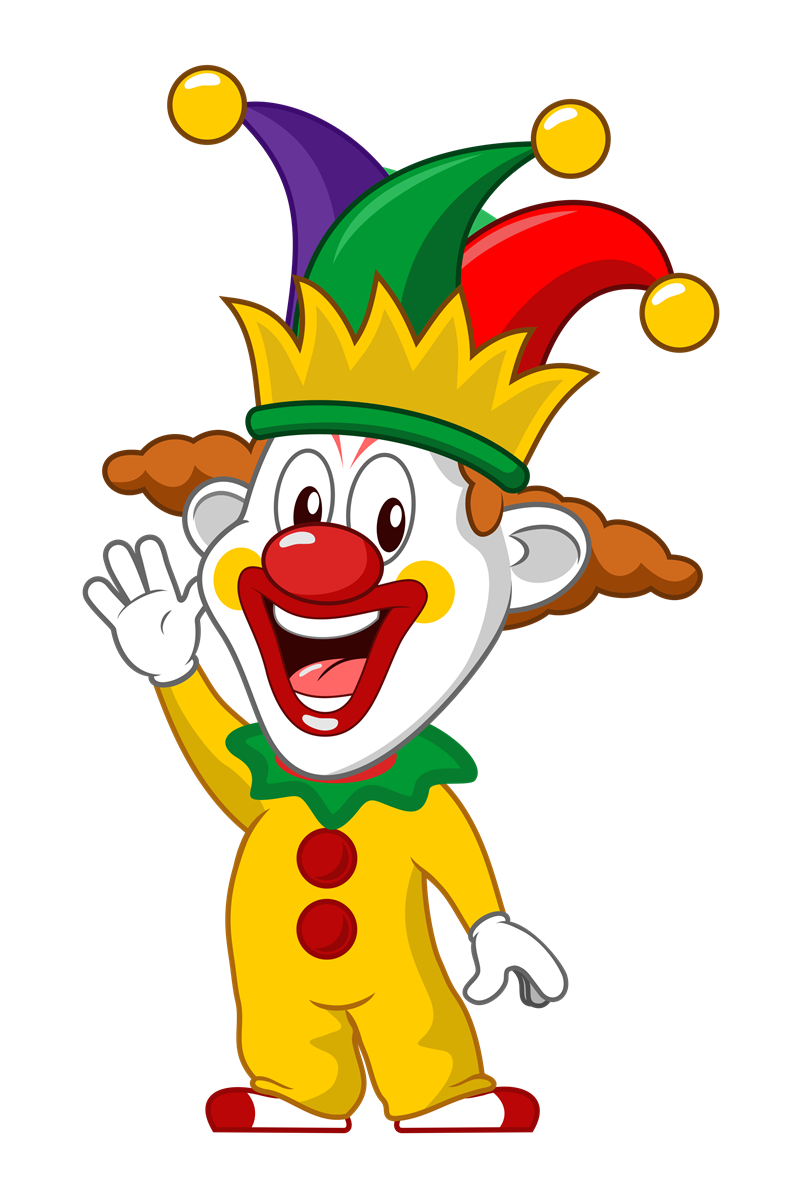 collection of cute. 2ds transparent clown banner transparent stock