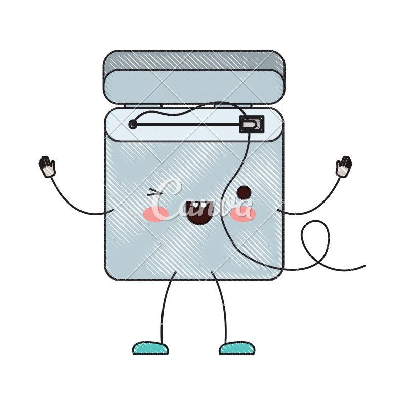 Cartoon colored wires png. Dental floss in crayon