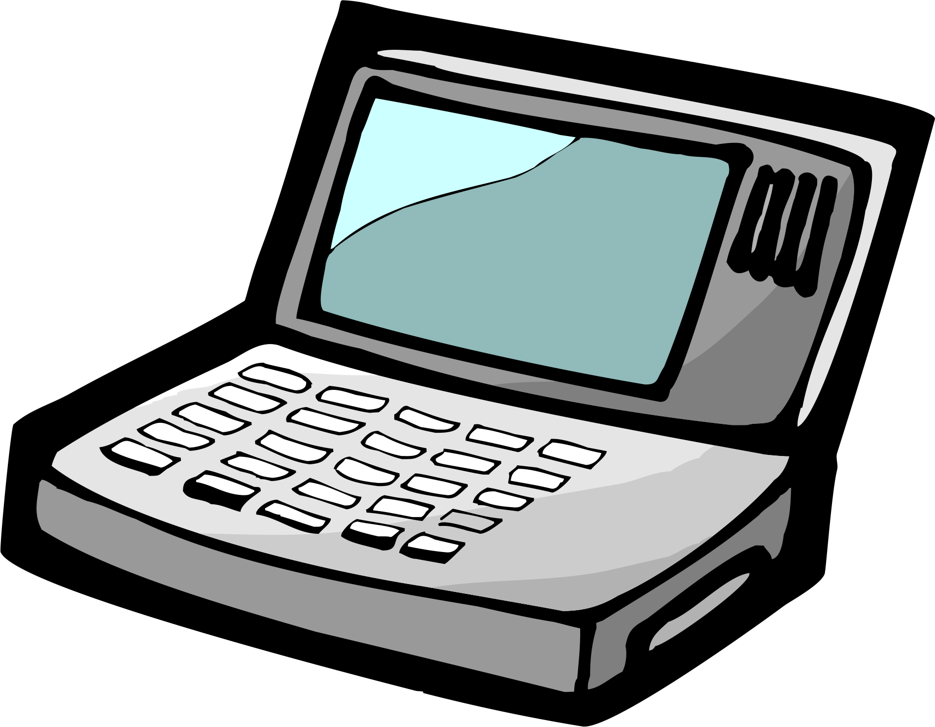 Computer cartoon electricity transprent. Drawing computers cute png library stock