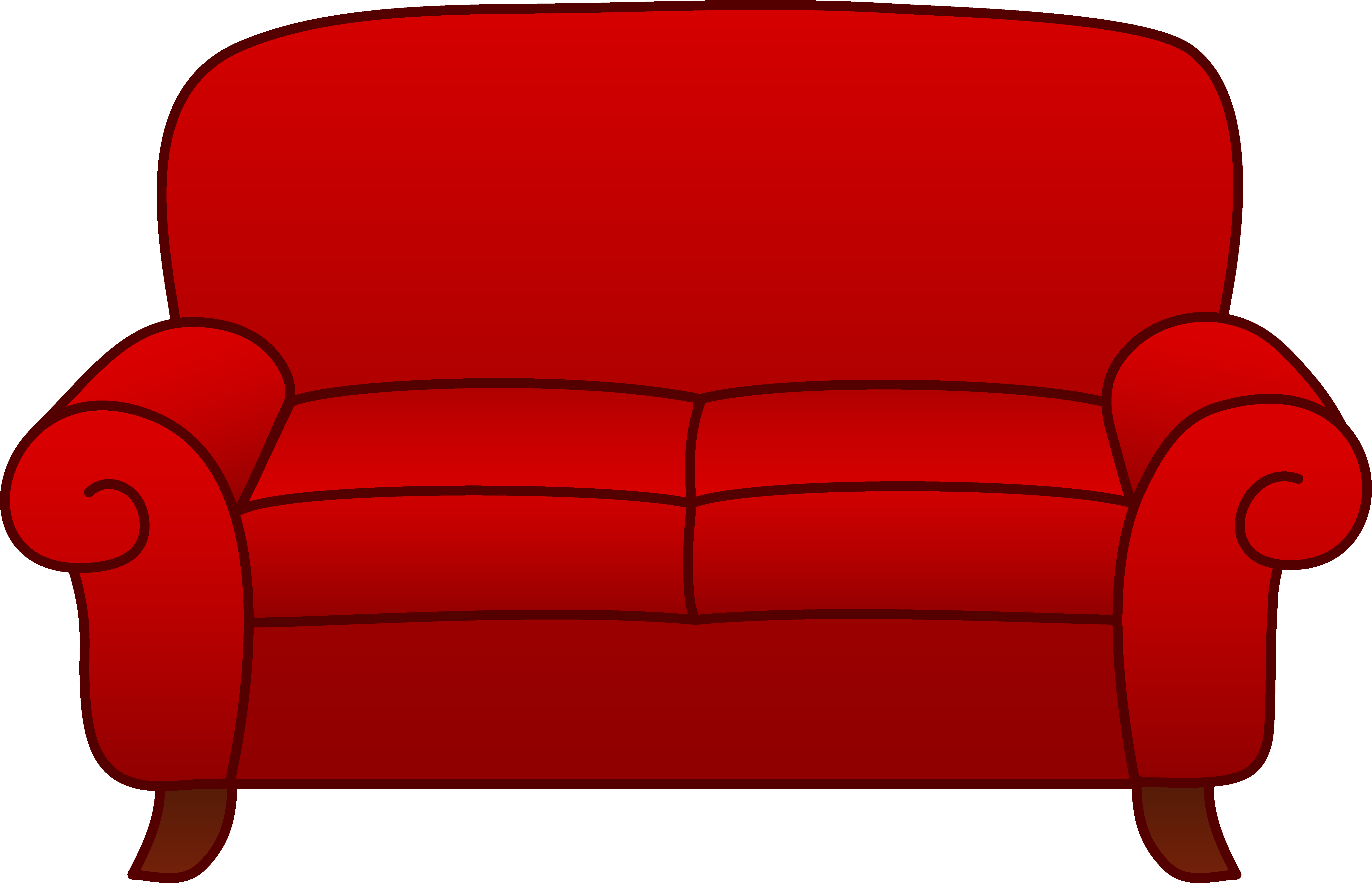 Cartoon couch png. Sofa cliparts bed clip