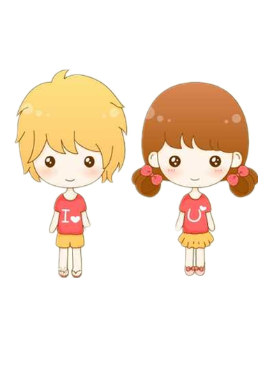 Cartoon couple png. Cute by lennsoshi on