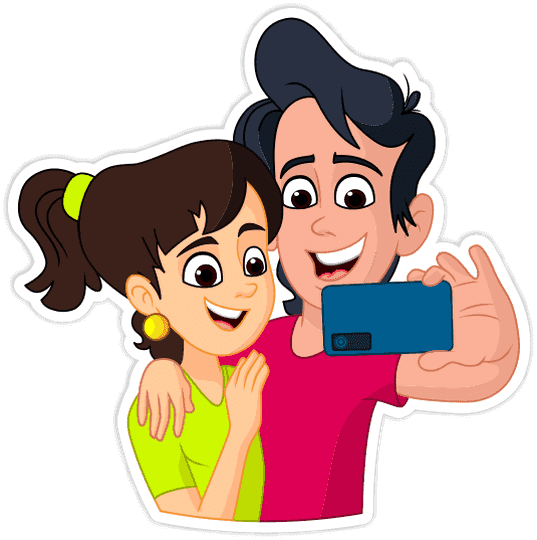 Cartoon couple png. Things do send