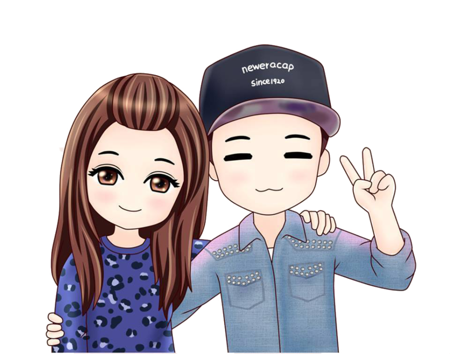 Cartoon couple png. Monday chibi by minhoonie
