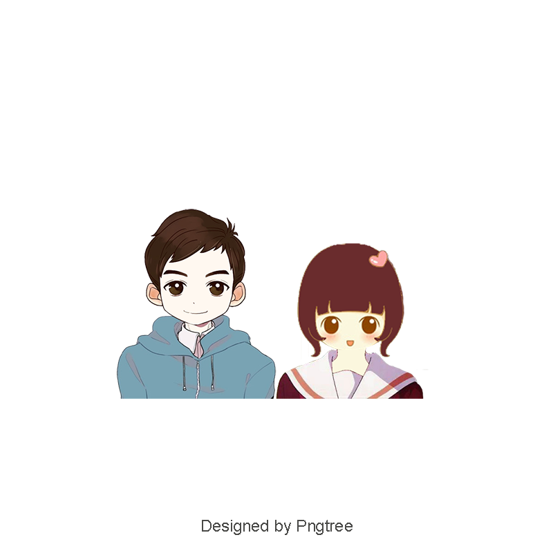 Cartoon couple png. Lovely love boy and