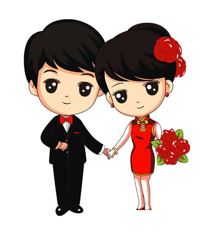 Cartoon couple png. Marriage song download newly