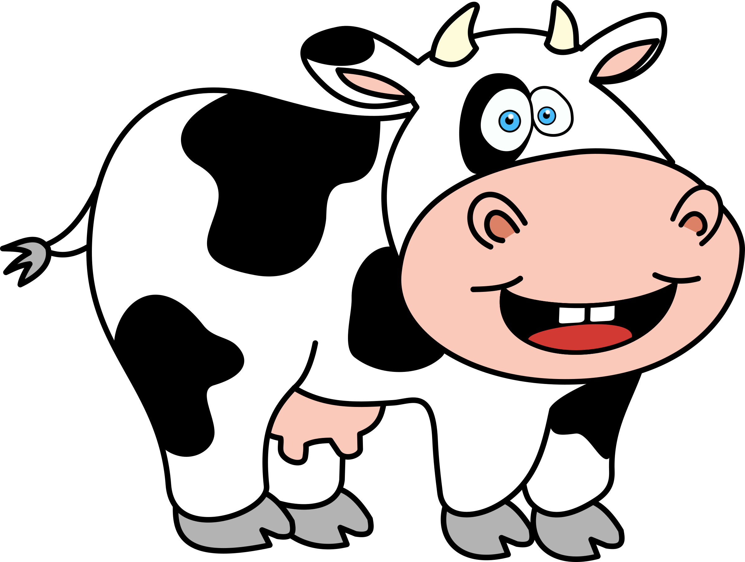 Cartoon cow png. Clipart funny big image