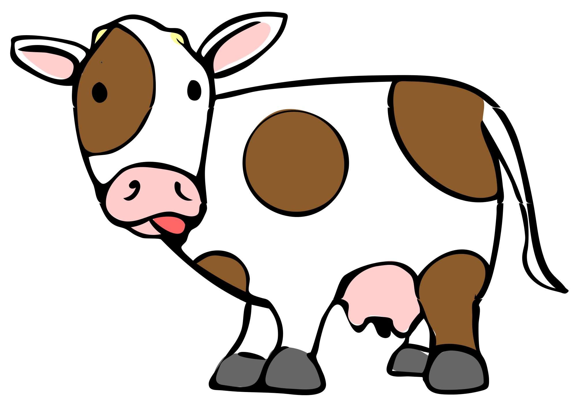 Cartoon cow png. File svg wikimedia commons