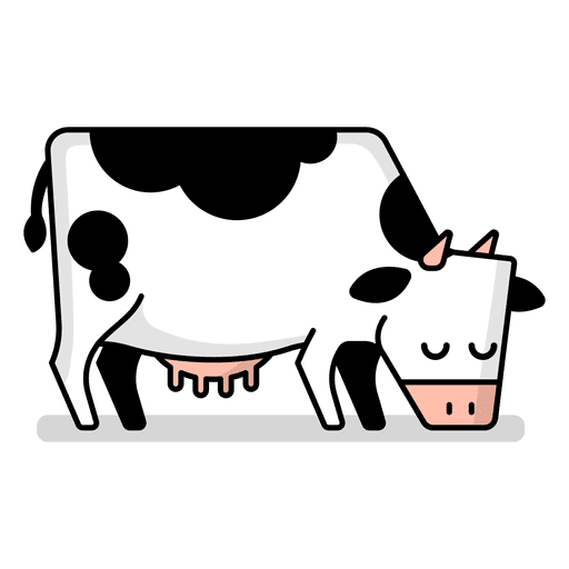 Cartoon cow png. Grazing transparent svg vector