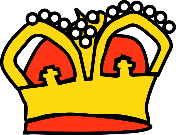 Cartoon crown png. Golden clip art at