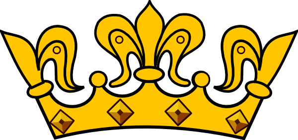 Cartoon crown png. Gold clip art at