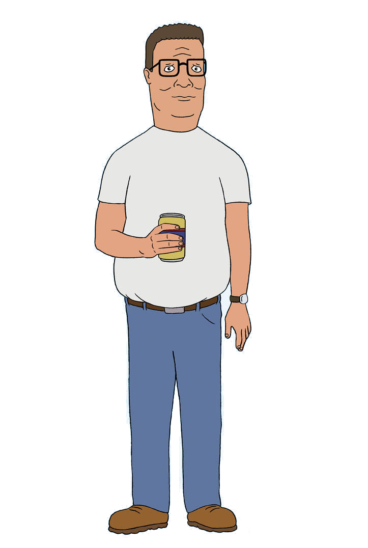 Cartoon dad sitting png. Hank hill king of