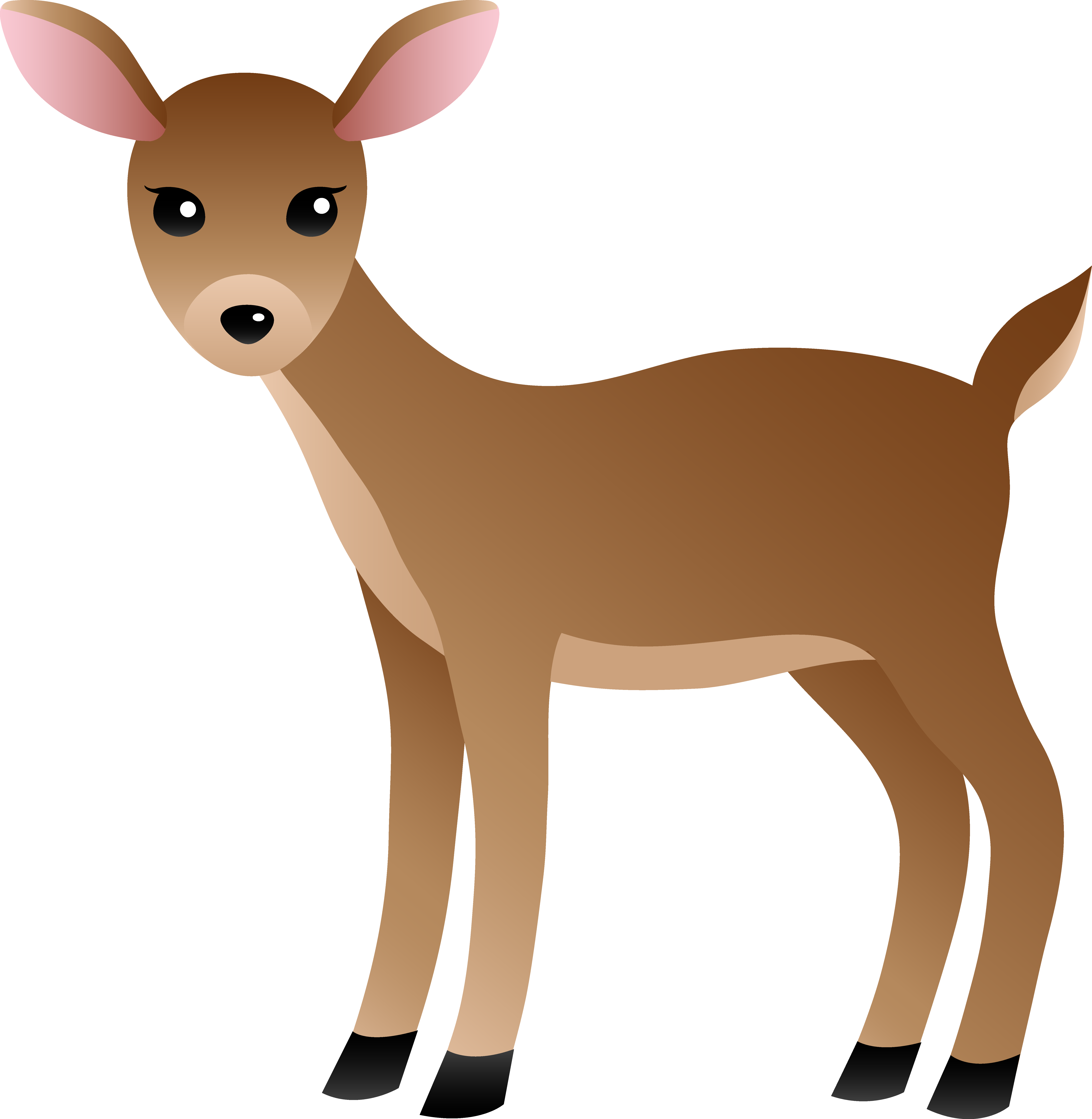 Mammal drawing fawn. Cartoon deer clipart