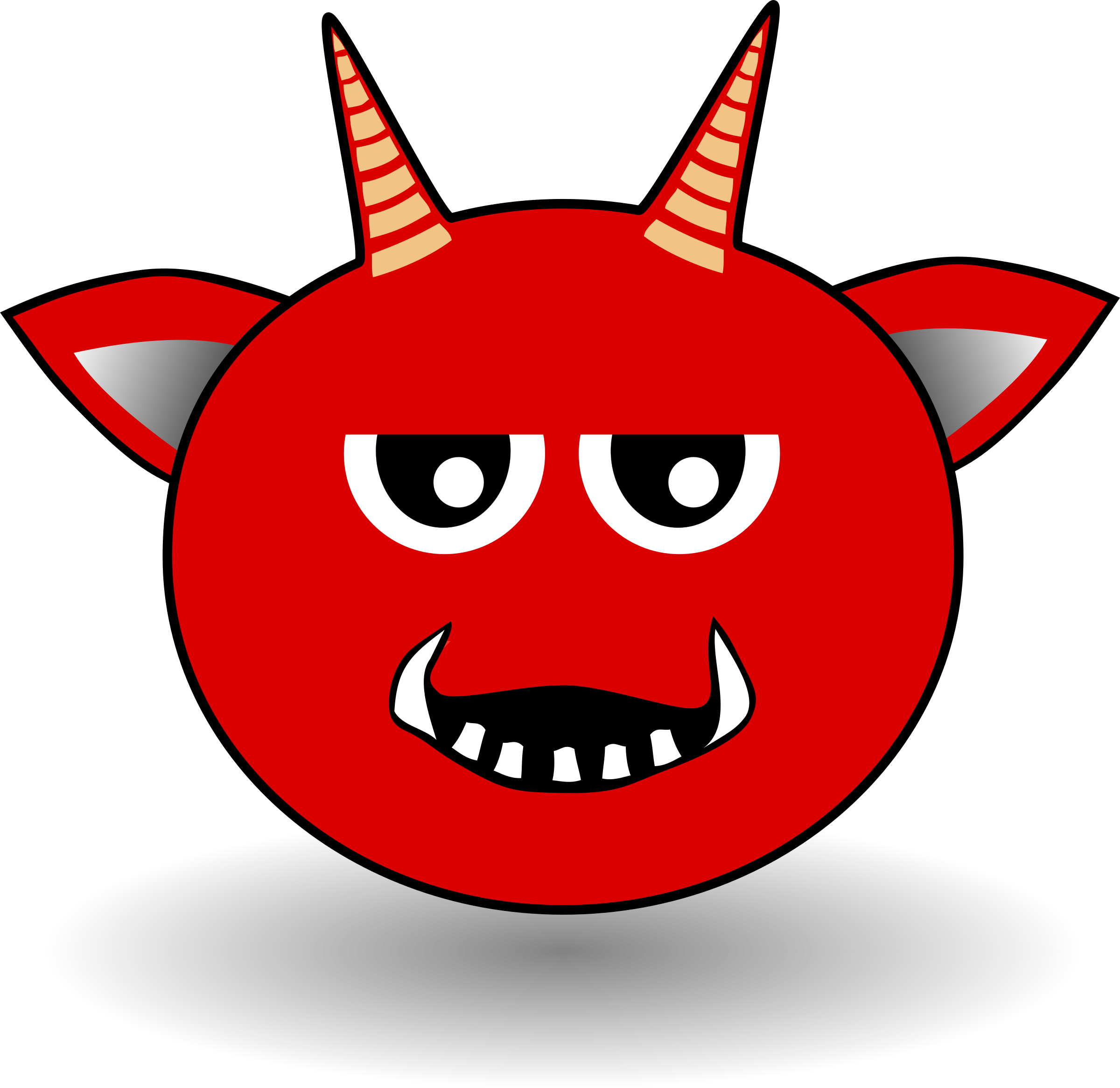 Devil head png. Little red cartoon icons