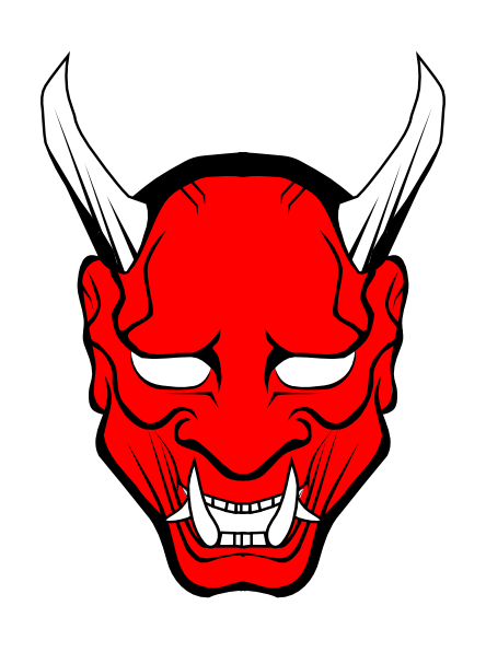 horns vector red devil