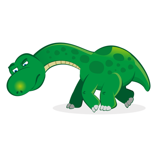 Trace vector animal. Dino character following cartoon