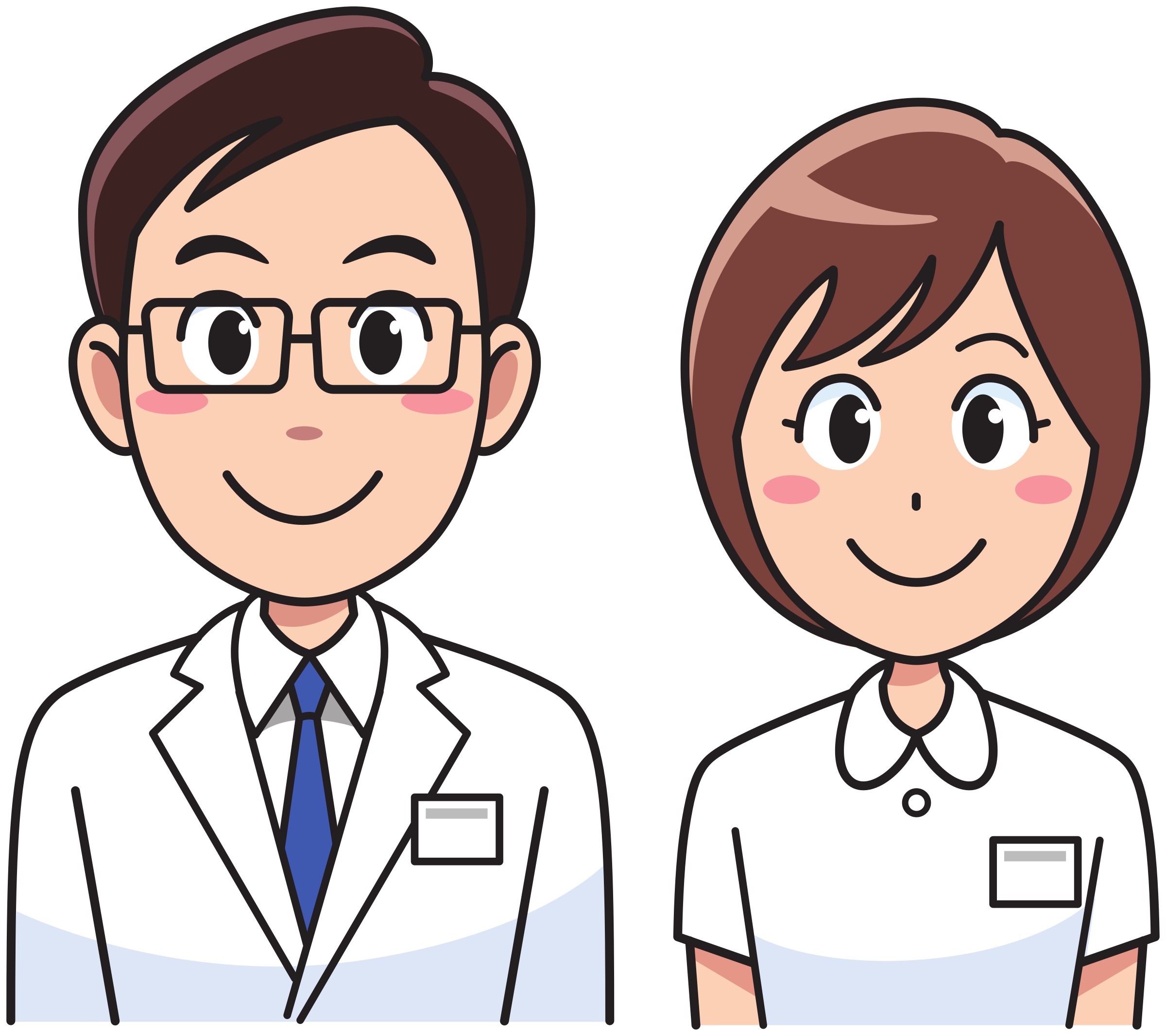 Cartoon doctor png. Medicine and nurse icons