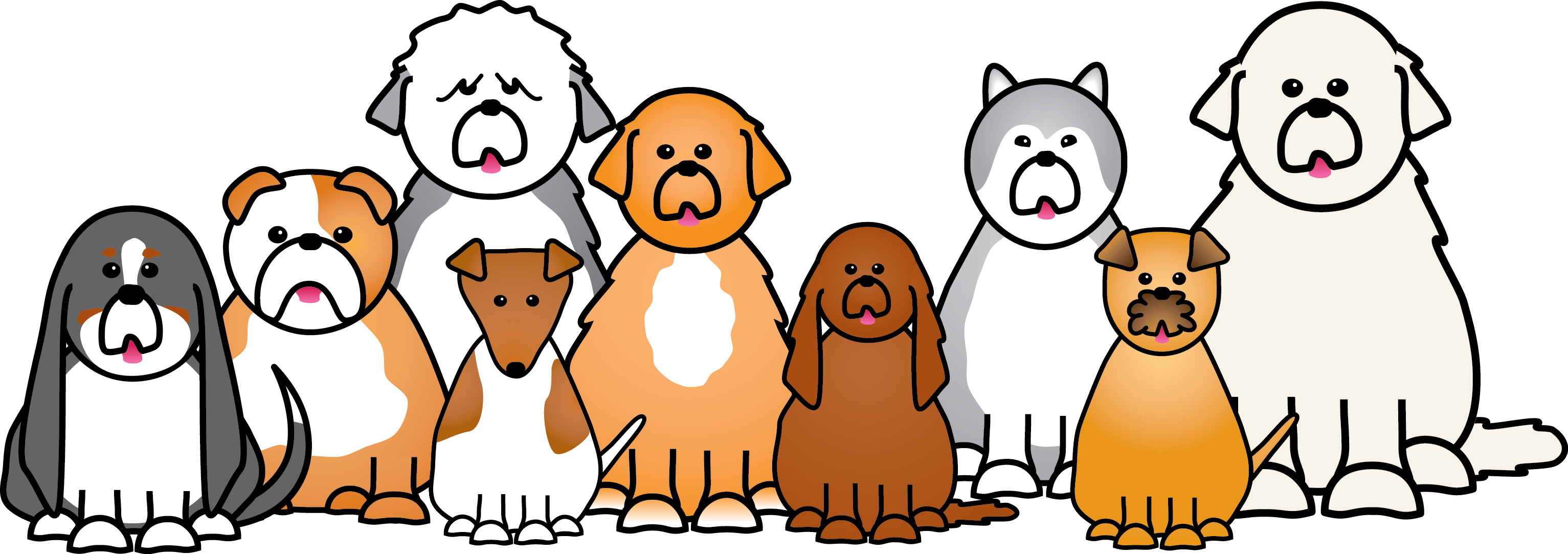 Dogs cartoon png. Free download clip art