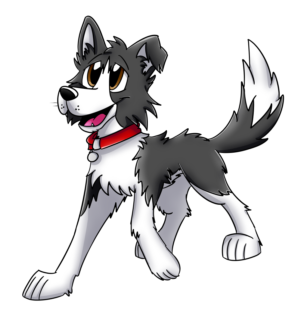 Cartoon dogs png. File border collie wikimedia