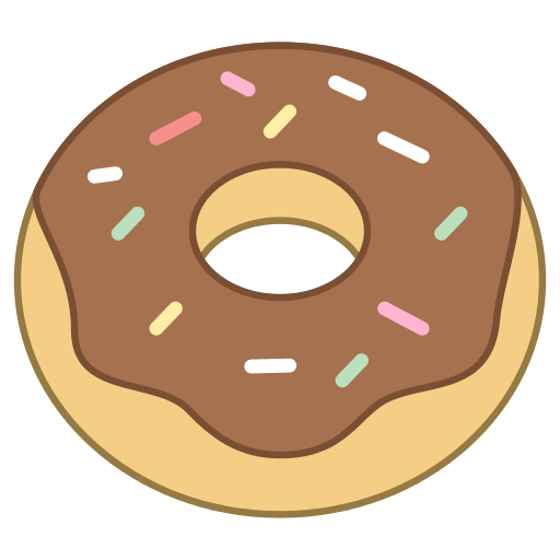 Cartoon donut png. Save our oceans