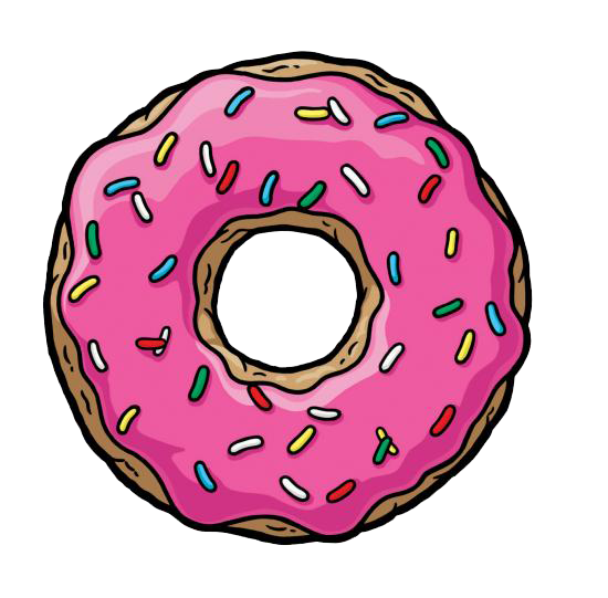 the simpsons donut png